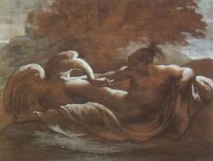 Leda and the Swan Artist: Theodore Gericault Style: Romanticism Genre: mythological painting Technique: chalk, watercolor Gallery: Musée du Louvre, Paris, France Giovanni Boldini, Zeus Children, Jean Leon, Image Chat, Lady Godiva, Greek And Roman Mythology, Images Vintage, Vintage Posters, Vintage Art