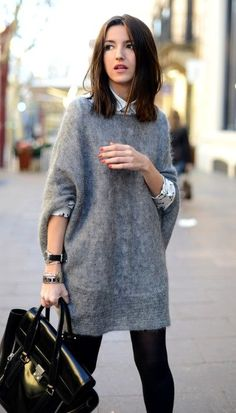 Oversized Sweater Outfit Picture picture of comfy and cozy oversized sweater outfits for fall 4 Oversized Sweater Outfit. Here is Oversized Sweater Outfit Picture for you. Oversized Sweater Outfit oversized sweater x overknees outfit sunnyinga fa. Oversized Grey Sweater, Oversized Sweater Outfit, Sweater Dress Outfit, Sweater Outfits, Dress Outfits, Casual Outfits, Fashion Outfits, Comfy Sweater, Oversized Clothing