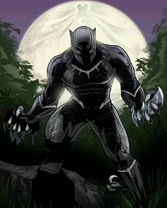 Black Panther - Glen Canlas It's awesome but what the f*ck is doing here batman and Moon Knight?