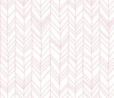 Featherland pink (LARGE) fabric by leanne on Spoonflower - custom fabric