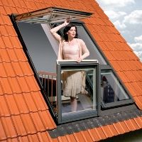 Roof windows, skylights, loft ladders from FAKRO, our products, new products, new products 2011, Balcony Window FGH-V P2 Gallery