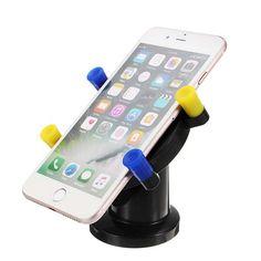Multifuncional Coche Soporte de teléfono montado Soporte de rotación de soporte cerradura Clip