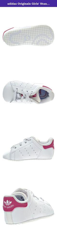huge discount 1f9e4 d43bc adidas Originals Girls  Stan Smith Crib Sneaker, White White Pink Buzz S