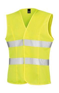 UNEEK Unisexe Manches Longues Sécurité Taille Manteau Hi-Viz Fluorescent Gilet réfléchissant