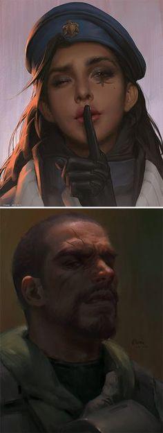 Ana & Reaper Portraits - https://www.artstation.com/artist/chome