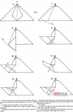 Rabbit Origami Instructions Square Tutorial Diagram Designed By Robert JLang Like More Animals Look Here