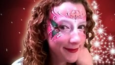 CHRISTMAS HOLLY FACE PAINT DESIGN VIDEO TUTORIAL