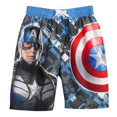 Captain America Swim Trunks - Boys 4-7 #kohls