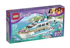 Buy LEGO Friends - Dolphin Cruiser at Mighty Ape NZ. Sail in style on the Dolphin Cruiser! Set course for an ocean adventure on the Dolphin Cruiser with Mia, Maya and Andrew. Steer the boat with Andrew . Legos, Black Friday, Figurine Lego, Ski Nautique, Lego Friends Sets, 9 Year Old Girl, Lego System, Lower Deck, Buy Lego