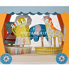 meri meri cupcake set silly circus 45-1640 | ilovespeelgoed.nl