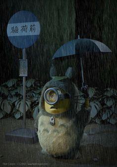 Minion Mi vecino Totoro.