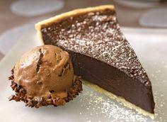 Chocolate bourbon pie. Nick will get his birthday wish..