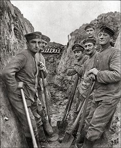 Digging trenches near Grodno, Belarus. From a World War I album. Life in the trenches during the First World War took many forms, and varied widely from sector to sector and from front to front. http://www.firstworldwar.com/features/trenchlife.htm