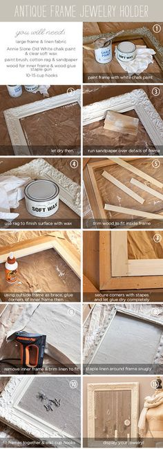 Antique Frame Jewelry Holder Instructions.