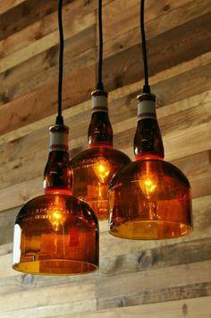 Bottle light chandelier..engineer hamza tawfiq