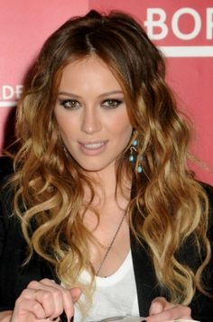 celebrity ombre hair