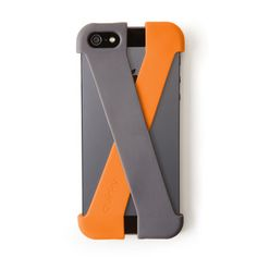 Crossover by Quirky.com. Crossover is a two-piece case that secures gear to your iPhone 5 with silicone straps, merging functionality with minimalist design. The two straps intersect to form a web of protection, protecting the back and all four corners by reinforcing key areas of impact. On top of this protective function, the straps also provides comfortable storage space for up to four credit cards, along with business cards, notes, and other sundries.