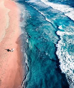 Surfer and Ocean Waves