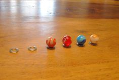 balance marbles on top of washers - what a great freakin idea!!