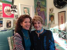 """Rabbi Alicia Magal and her mother, Nika Fleissig, from left, sit in Fleissig's home art studio in the Village of Oak Creek. At Fleissig said that fewer and fewer people """"know an animal like me"""" — a Holocaust survivor living in the United States. Art Studio At Home, Home Art, Survivor Live, Sedona Red Rock, Rock News, Oak Creek, Rabbi, Art Therapy"""