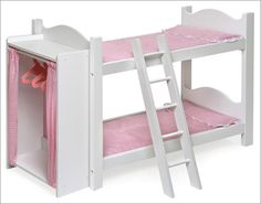 Doll Bunk Beds for Baby Dolls, American Girl Dolls, My Twinn Dolls, and other play dolls — Doll Diaries
