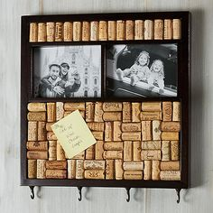 DIY Wine Cork Memo Board with Photo Frame at Wine Enthusiast - $59.95