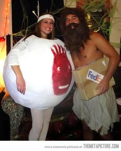 Best couples Halloween costume! (if you haven't seen it - the movie's Castaway)