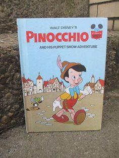 PINOCCHIO DISNEY STORYBOOK Vintage Kid Book by BeansterGoods
