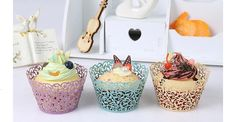 100 pieces of Vine Lace Laser Cut Cupcake Mold - ends 9/4 US/CAN