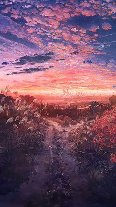 Fantasy world wallpaper Fantasy Landscape, Landscape Art, Landscape Illustration, Illustration Art, Fantasy World, Fantasy Art, Photos Voyages, Belle Photo, Aesthetic Wallpapers