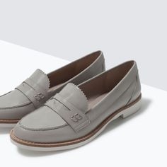 ZARA grey loafers