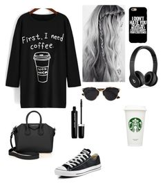 """""""Sans titre #222"""" by israa-samraa on Polyvore featuring mode, Converse, Givenchy, Beats by Dr. Dre, Christian Dior et Marc Jacobs"""