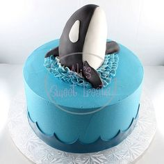 Buttercream Orca cake! | Flickr - Photo Sharing!