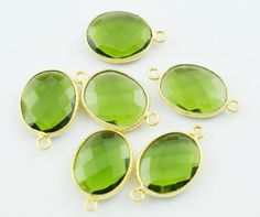 Finest Quality 3 Pieces Lot Peridot Faceted by LeejewelCreations