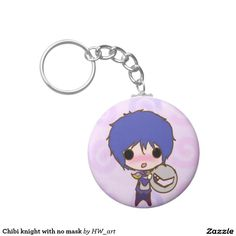 Chibi knight with no mask keychain