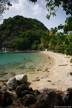 Pain de Sucre beach in Guadeloupe.
