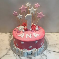 Tarta buttercream estrellitas. Cupcakes, Baby Shower, Birthday Cake, Desserts, Food, Fondant Cakes, Cake Birthday, Candy Stations, Pastries