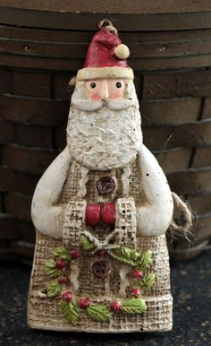 Glad Tidings Santa Claus Claus Ornament by Carson 67754 Jessica Flick Christmas #Carson