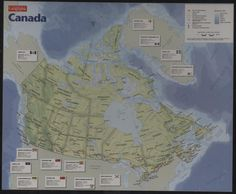 Map of Canada Jigsaw Puzzle Canadian Geographic Cobble Hill 1000 Pieces NEW