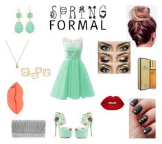 """""""Mint Spring Formal"""" by roxy-crushlings ❤ liked on Polyvore featuring Qupid, Nina, Lime Crime, Elizabeth Taylor, Panacea, Gucci and STELLA McCARTNEY"""