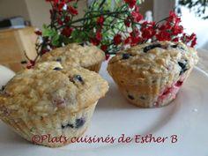 Les plats cuisinés de Esther B: Muffins gâteau au fromage aux petits fruits sauvag...