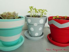 Painted Flower Pots | Love, Pomegranate House