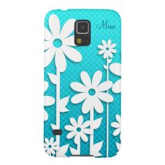Pretty Abstract White Daisies Design GalaxyS5 Case Galaxy S5 Cases