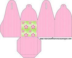 Flores com Fundo Rosa e Verde - Kit Completo com molduras para convites, rótulos para guloseimas, lembrancinhas e imagens!