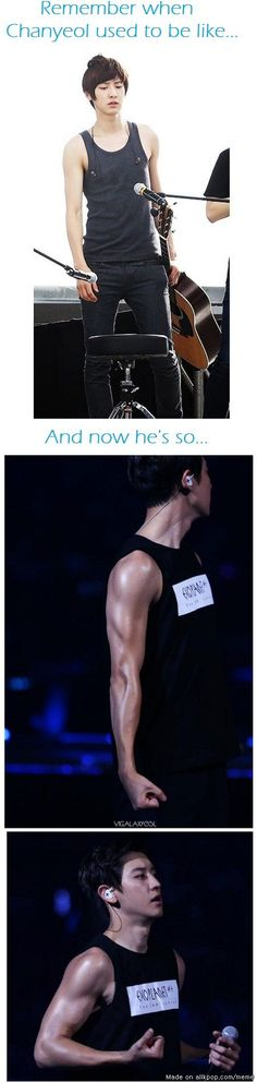 Well DO started working out so Chanyeol had to as well for protection reasons LMAO #EXO http://ibeebz.com