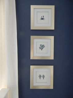 Easy to make stenciled nautical prints. Perfect touch for a nursery {a little diy}