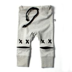 Minti Baby Cross Eyed Trackie Grey - Newborn - CLOTHING :: Big Dreams