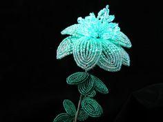 Mint French Beaded Flower by BeadedFleur on Etsy