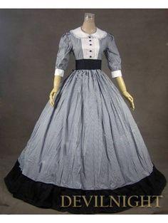 Classic Half Sleeves Victorian Dress