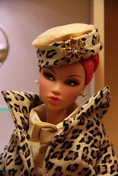 FR Kyori in vintage leopard suiting.